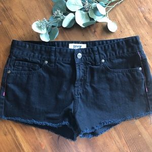 VS Pink black denim shorts